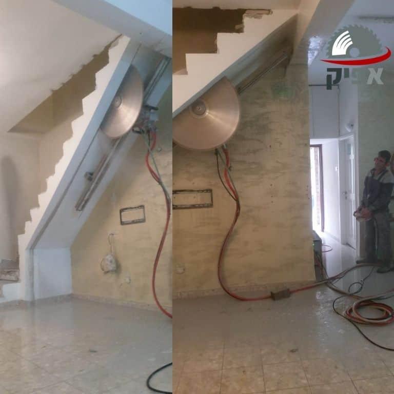 ניסור מדרגות בטון בראשון לציון